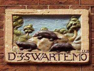 09. Gevelsteen De 3 Swarte Molle Blindemansteeg Amsterdam