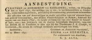 Advertentie Leeuwarder Courant 31 maart 1837